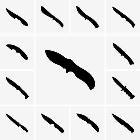 pocket knife: Set of knives icons