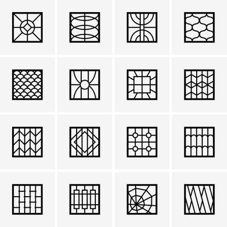 Fenêtres grillagées de fer Banque d'images - 19689141