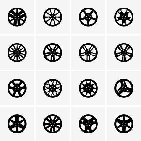 자동차 바퀴 세트