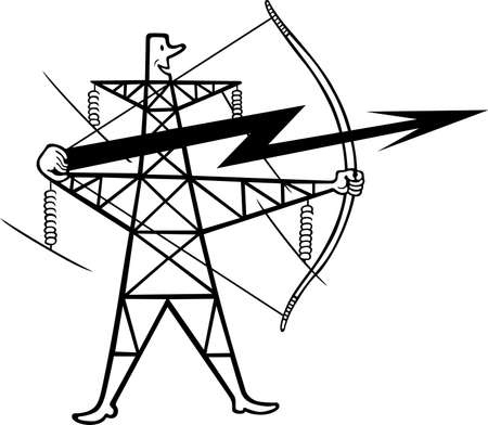 high tension: Electric power transmission support