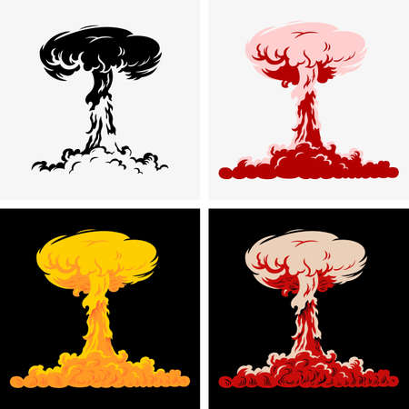 Nuclear explosion Stock Illustratie