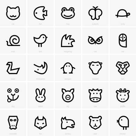 snail: Set of animal icons