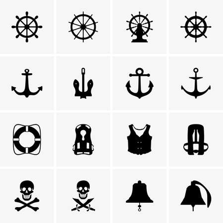 timon de barco: Anclas, ruedas y otros