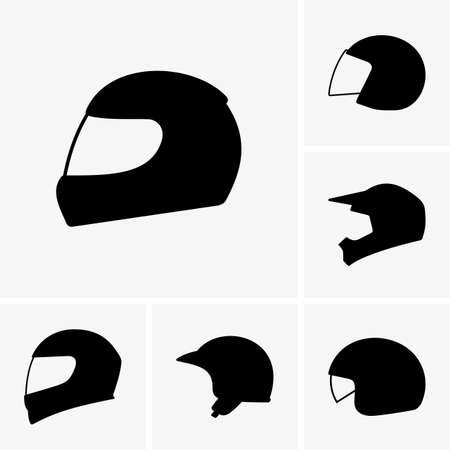 Motorcycle helmets Illustration