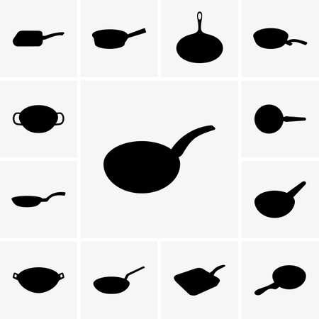 Koekenpannen Vector Illustratie