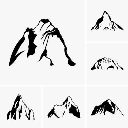 hill top: Set of mountain peaks
