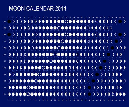 scheduler: Moon calendar 2014 Illustration