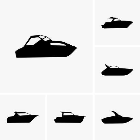 speed boat: Set of cutter boats