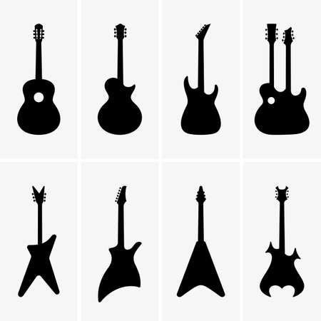 acoustic guitar: Set of Guitar icons