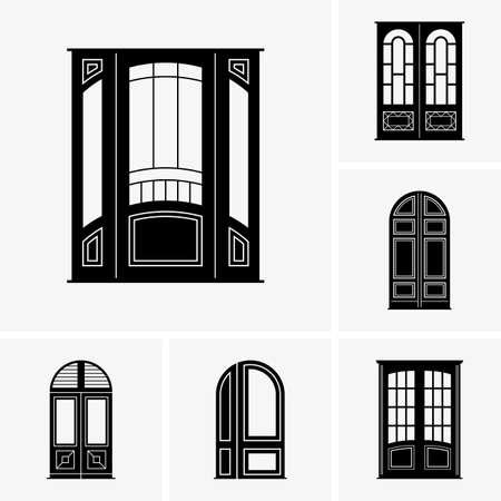 Set of door icons Vector