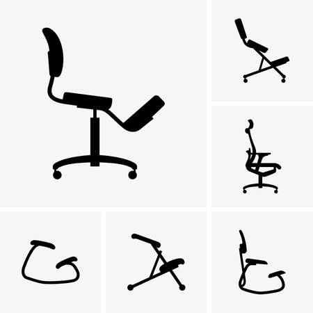 ergonomics: Set of smart stool icons Illustration