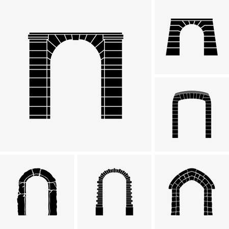 front gate: Set of arch icons