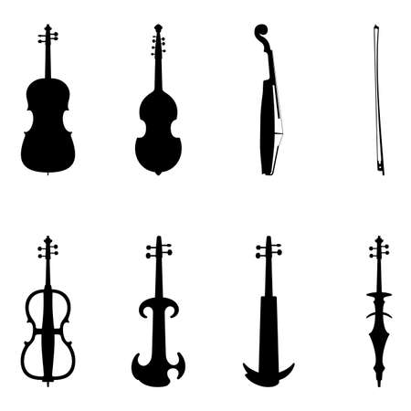 stringed: Set of violin icons