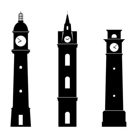 Clock towers Vector Illustration