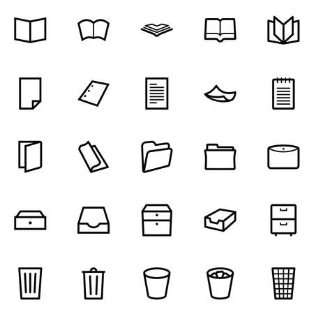 Set of document icons Vector