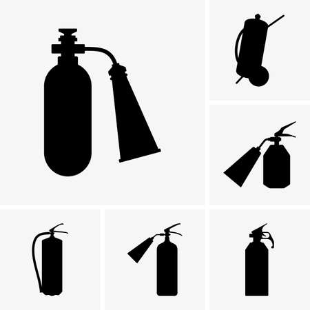 fire extinguishers: Set of fire extinguishers Illustration