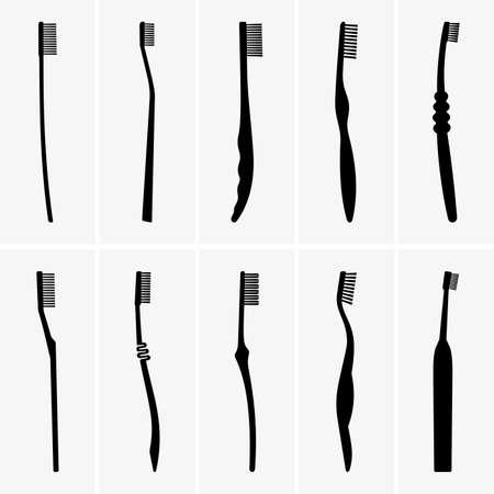 Set of toothbrushes Stock Illustratie