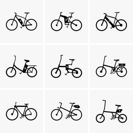 Set of Electric bicycles Stock Illustratie