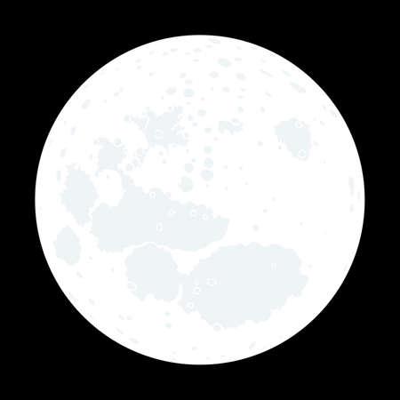 Volle maan aan de nachtelijke hemel