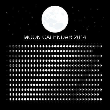 schedulers: Moon calendar 2014 Illustration