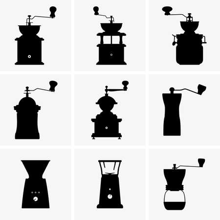 molinillo: Molinillos de café Vectores