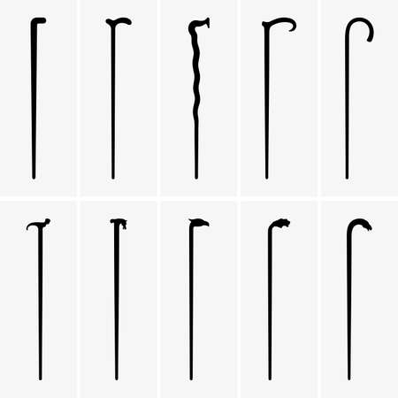 walking stick: Walking sticks Illustration