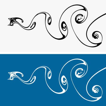 water vortex: Water vortex paths
