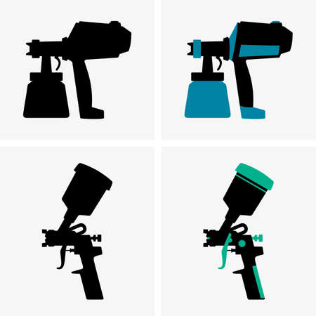 pulverizador: Pistolas Vectores