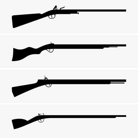 rifle: Vintage guns Illustration