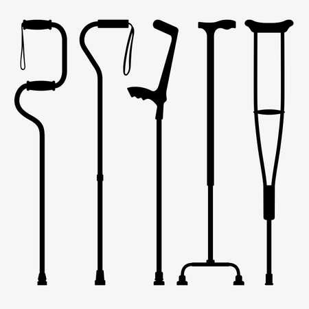 crutches: Crutches Illustration