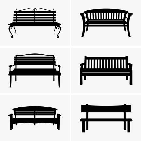 Benches Stock Illustratie