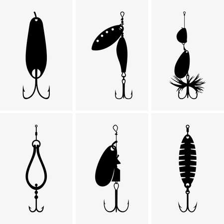 fishing lure: Fishing baits Illustration