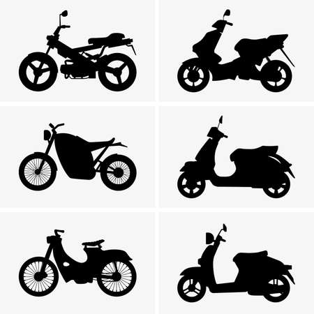 motor scooter: Motorbikes and scooters Illustration