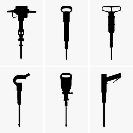 pneumatic: Pneumatic drills Illustration