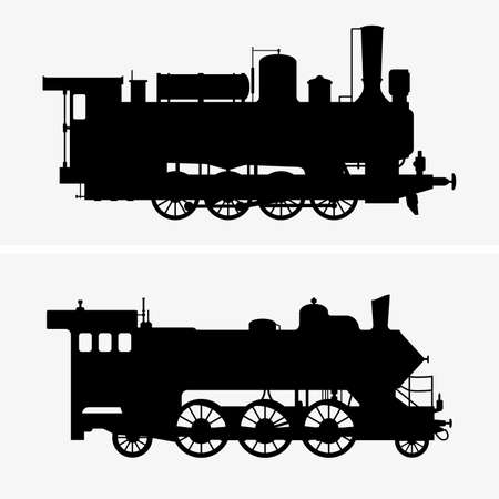 Steam locomotives Illustration