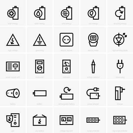 grounding: Electricity icons