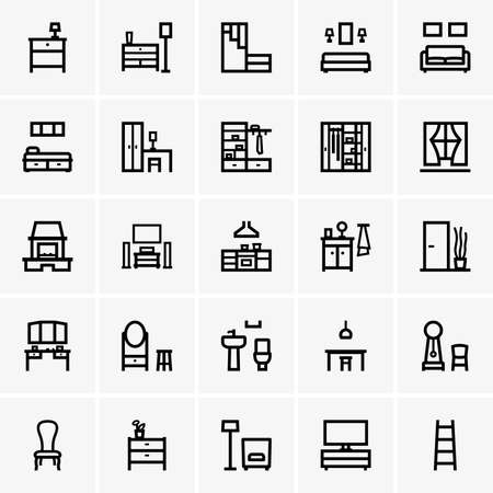 Interior icons Vector