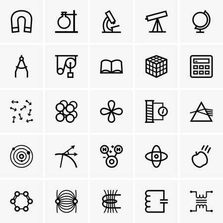 Science icons Illustration