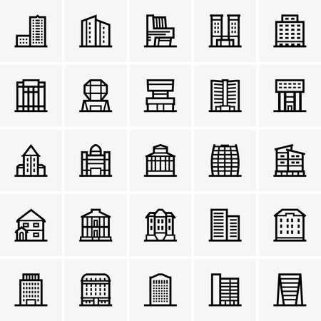 architecture pictogram: Civil buildings Illustration