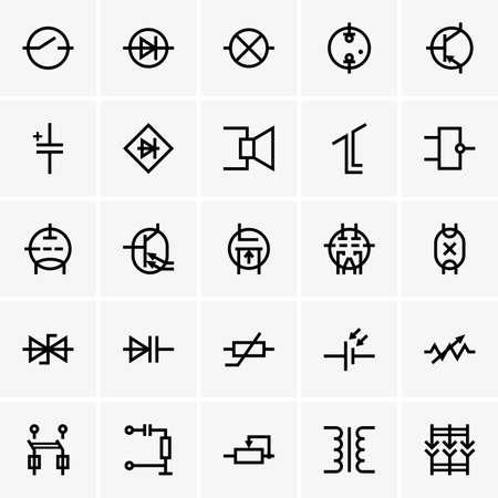 electronic components: Electronic components icons