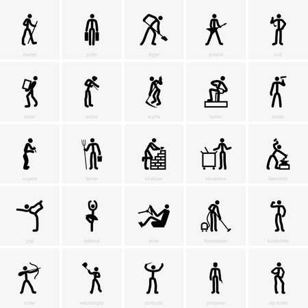 guadaña: Iconos Profesión Vectores