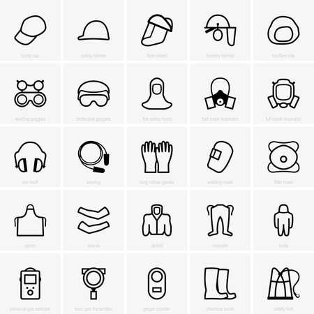 PPE icons  イラスト・ベクター素材