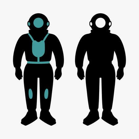 deep sea diver: Atmospheric diving suits