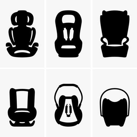 eltern und kind: Auto-Kindersitze Illustration