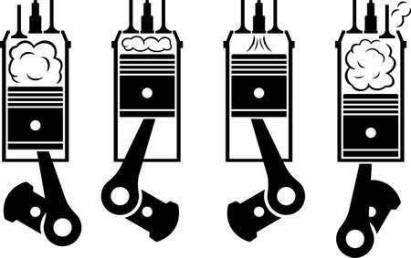 combustion: Internal combustion engine Illustration