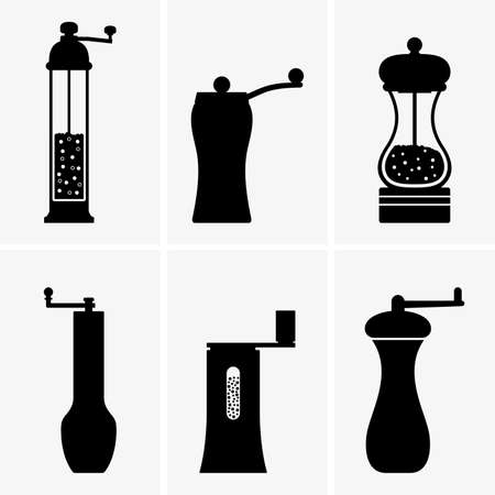 Spice mills Vektorové ilustrace