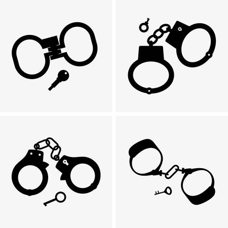 4,861 Handcuff Stock Vector Illustration And Royalty Free Handcuff ...