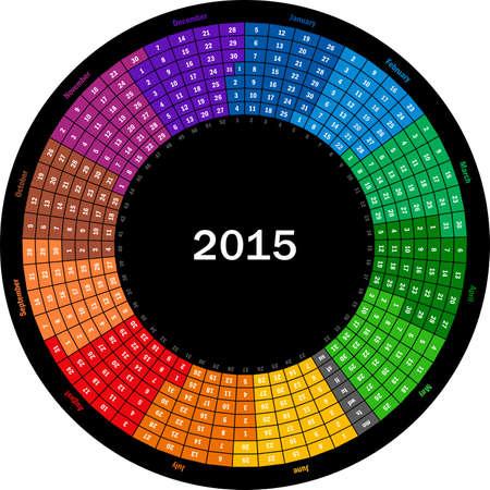 Round calendar 2015 Vector