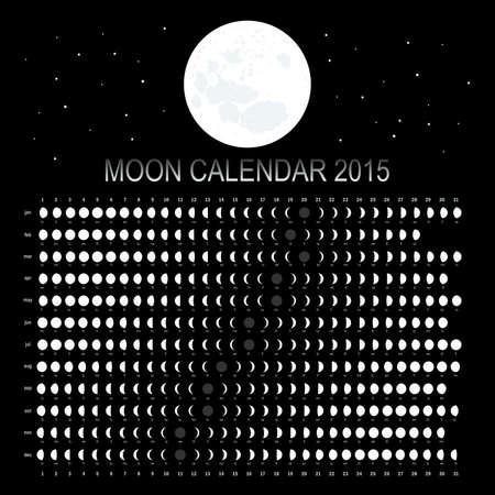 Moon calendar 2015 Vector