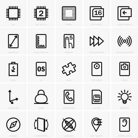 characteristics: Tablet pc characteristics Illustration